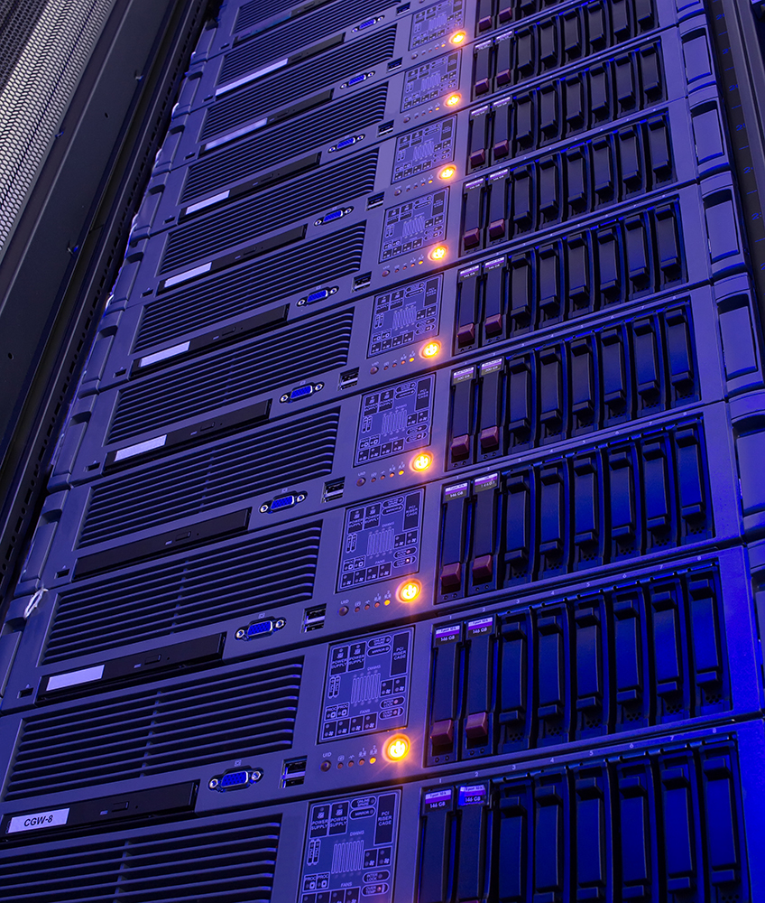 Modern storage of blade servers in the data center vertical