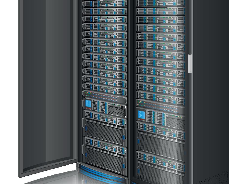 Row of servers